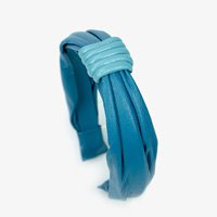 Tiara De Couro Guapa Blue - U Azul