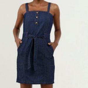 Vestido Feminino Jeans Curto Alças Finas Gups