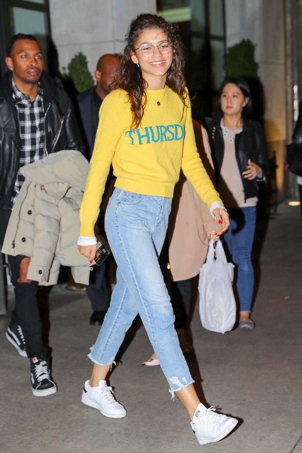 Zendaya - mom jeans - mom jeans - inverno - street style
