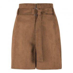 Shorts Suede Com Cinto