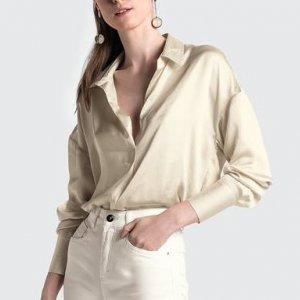 Camisa Mullet Em Tecido De Cetim