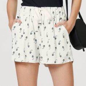 Shorts Feminino Estampado Com Laço