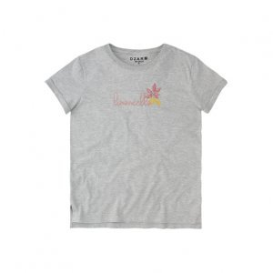 T-Shirt Manga Curta Decote Redondo E Estampa Frontal