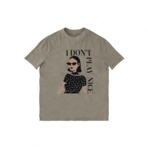 T-Shirt Manga Curta E Gola Com Estampa Frontal