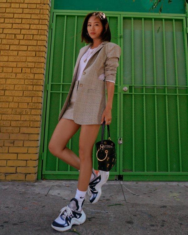 Aimee Song - terninho - tênis - inverno - street-style