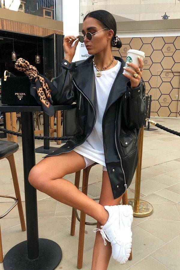 Alicia Roddy -       - jaqueta de couro - meia-estação - street style