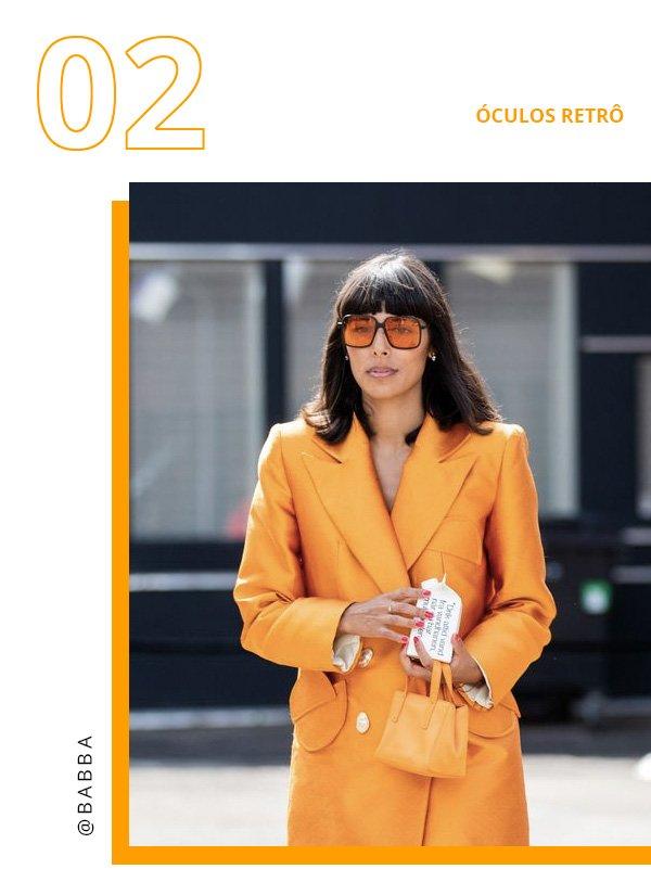 Babba C. Rivera - terno amarelo óculos retro - óculos retrô - verão - copenhagen fashion week