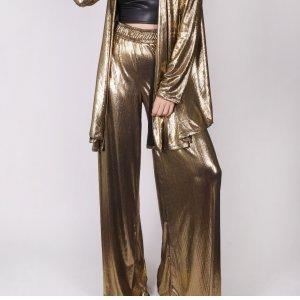 Calça Pantalona Dourada - M Dourado