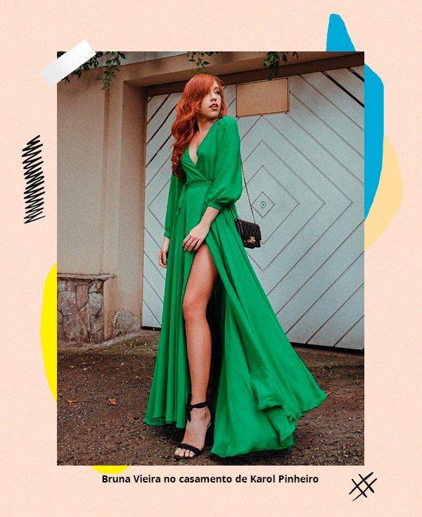 Bruna Vieira - vestido-verde - casamento - inverno - street-style