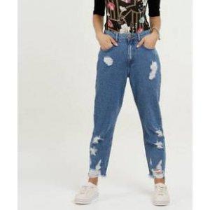 Calça Feminina Jeans Destroyed Boyfriend Marisa