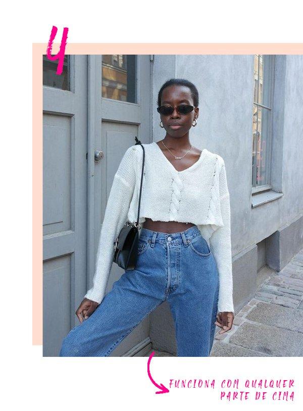 It girl - Calça cintura alta - Calça cintura alta - Inverno - Street Style