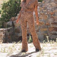 Calça Kholwa Leopardo - G Multicolorido