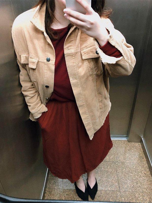 Carol Carlovich - jaqueta de veludo cotelê - veludo cotelê - inverno - looks