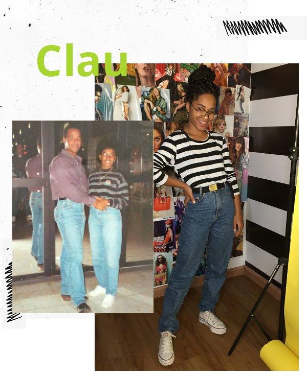 Claudiana Ribeiro - camisa listrada e mom jeans -  looks anos 90 - meia-estação - street style