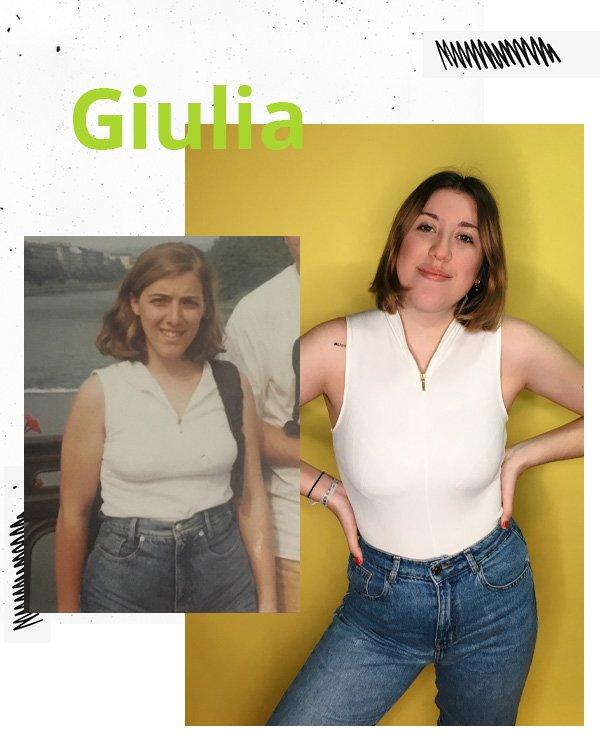 Giulia Coronato - blusa branca e calça jeans - looks anos 90 - meia-estação - street style
