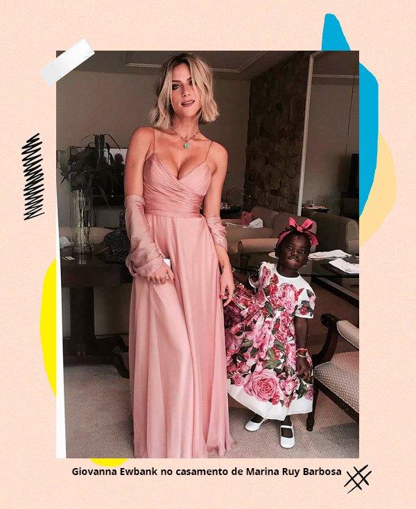 Giovanna Ewbank - vestido-rosa - casamento - inverno - street-style
