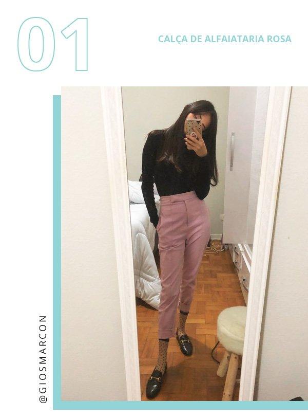Giovana Marçon - calça-rosa - alfaiataria - inverno - street-style