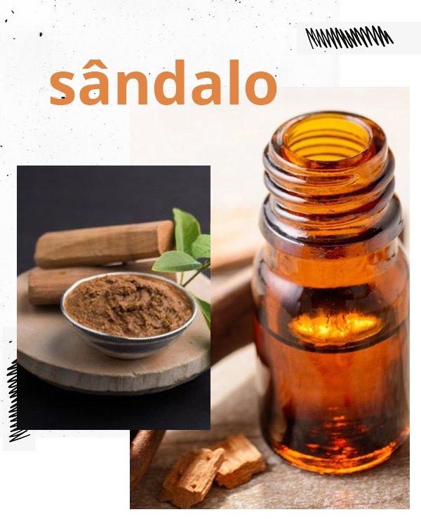 sândalo - óleo essencial sândalo - óleo essencial - cuidados com a pele - beleza