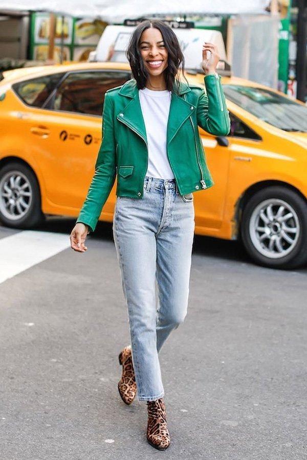 reprodução pinterest -      - jaqueta de couro - meia-estação - street style