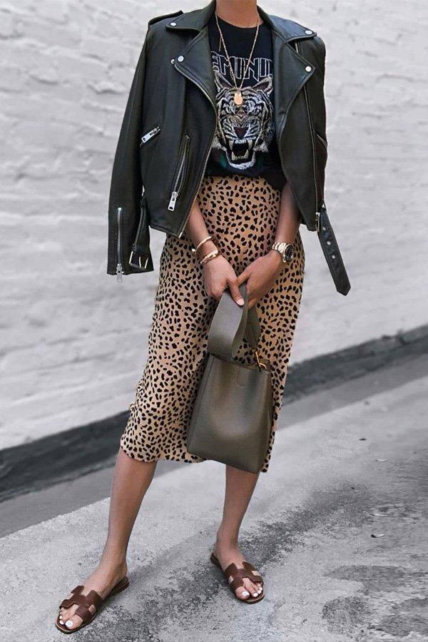 Jazy Goh - jaqueta de couro e saia - jaqueta de couro - meia-estação - street style