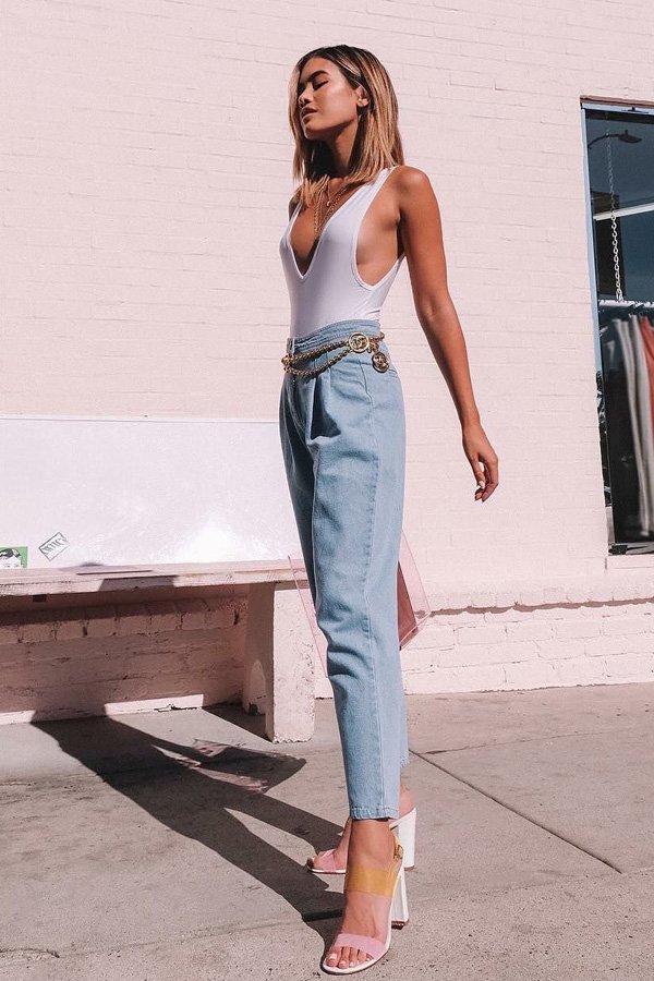 Jill Wallace - calça pregas - calça pregas - meia-estação - street style