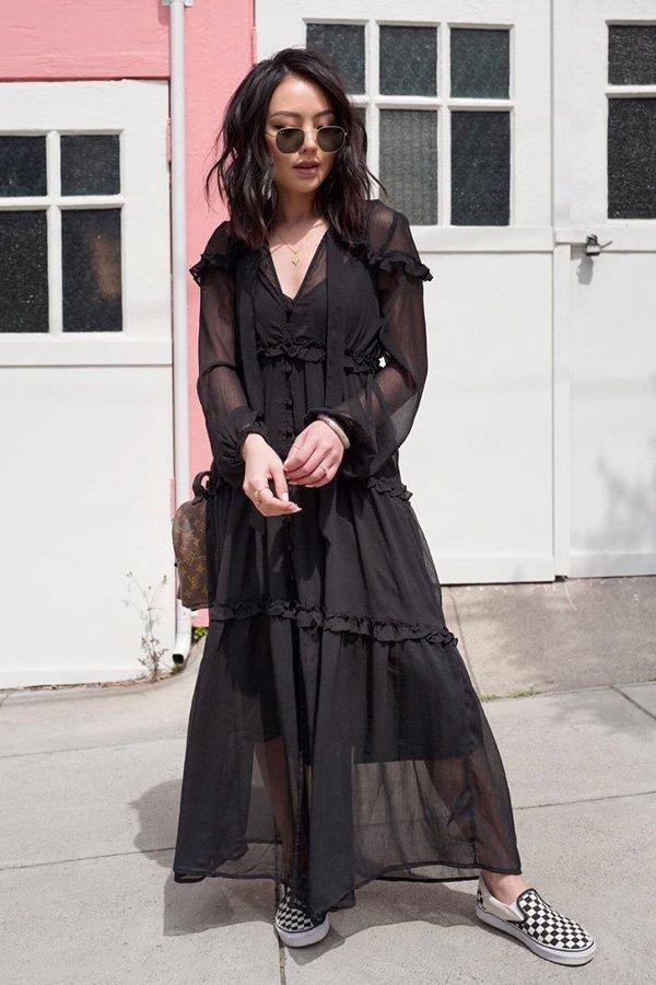 Kate Ogata - vestido manga longa - vestidos - meia estação - street style
