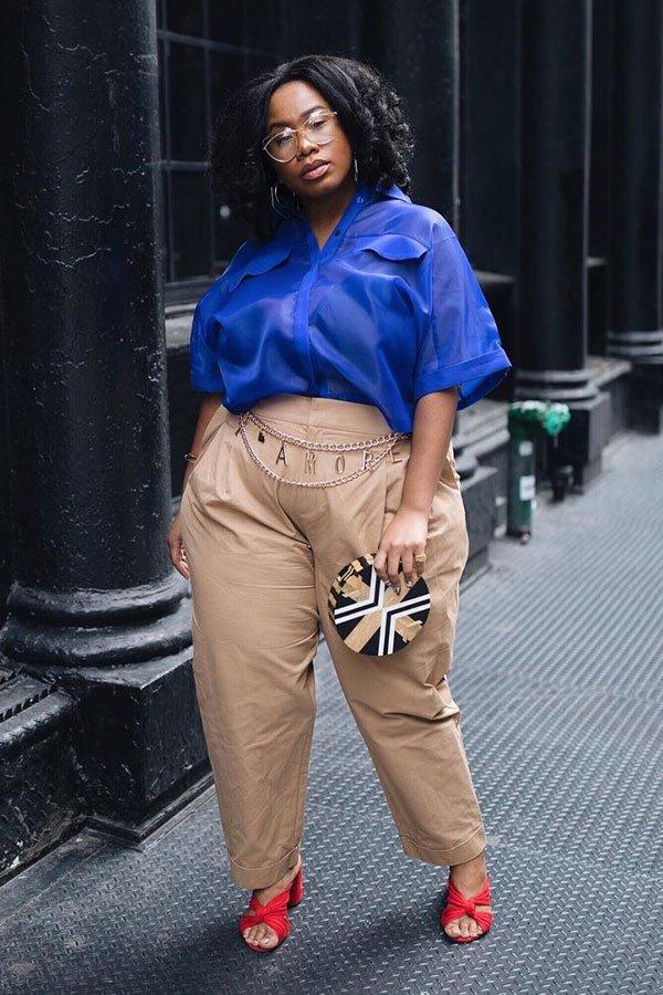 Kelly Augustine - calça e mule de salto - sapatos office look - inverno - street style