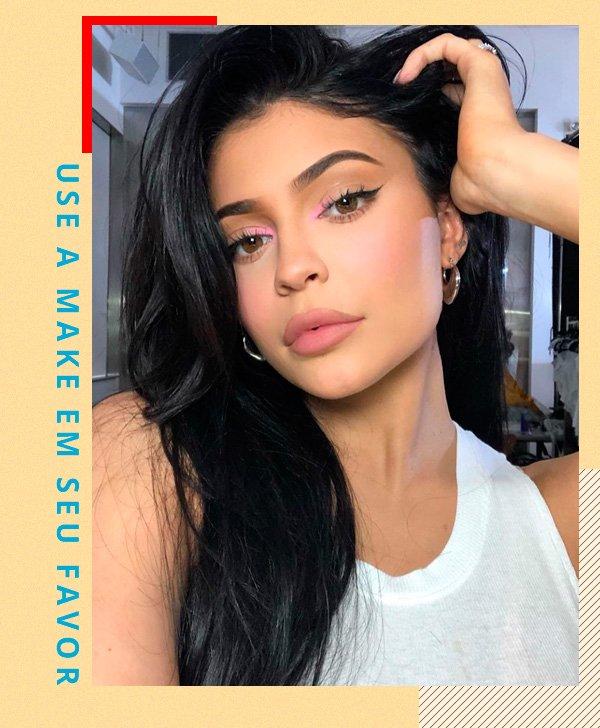Kylie Jenner - mak - make - inverno - street-style