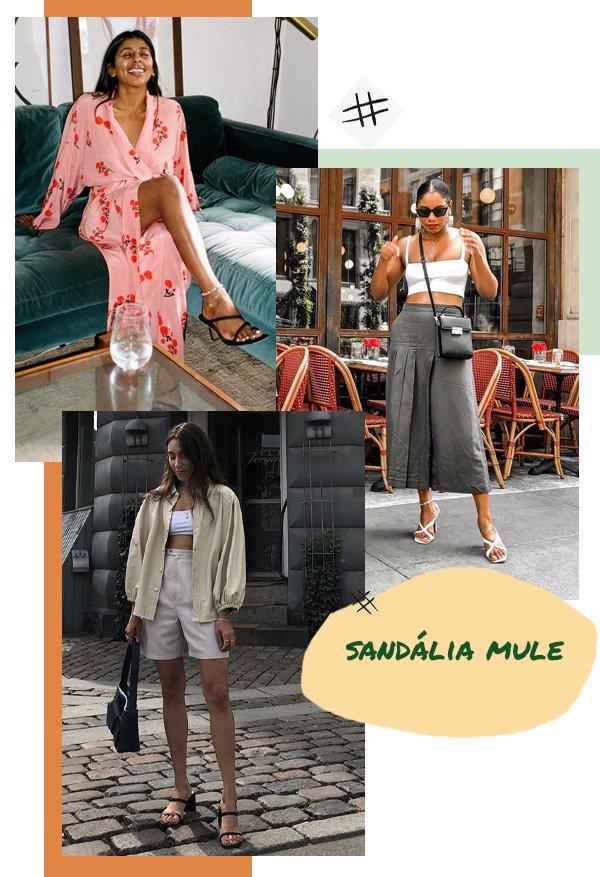 Lauren Caruso, Monroe Steele, Monikh Dale - sandálias - sandália aberta - verão - street style