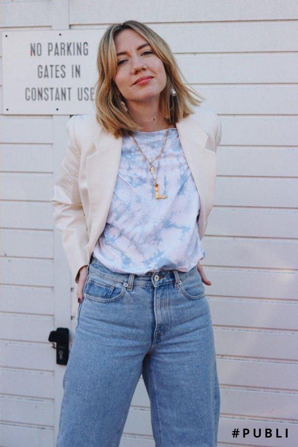 Lisa Aiken - camiseta tie dye - tie dye - verão - street style