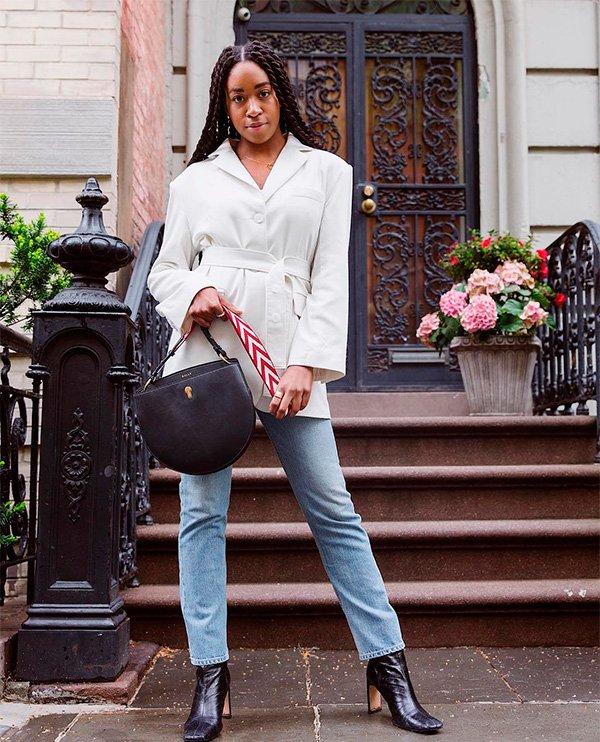 Chrissy Rutherford - blazer-e-jeans - blazer - inverno - street-style