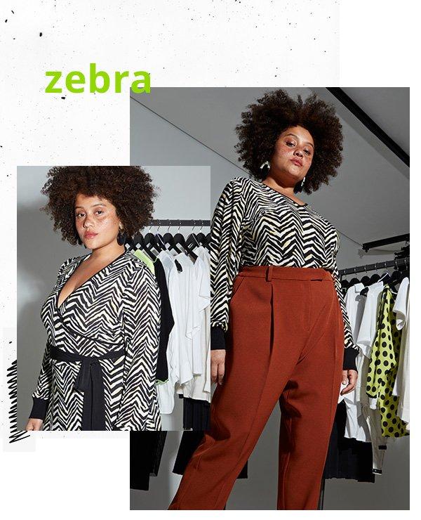 modelo - zebra - animal print - primavera - set
