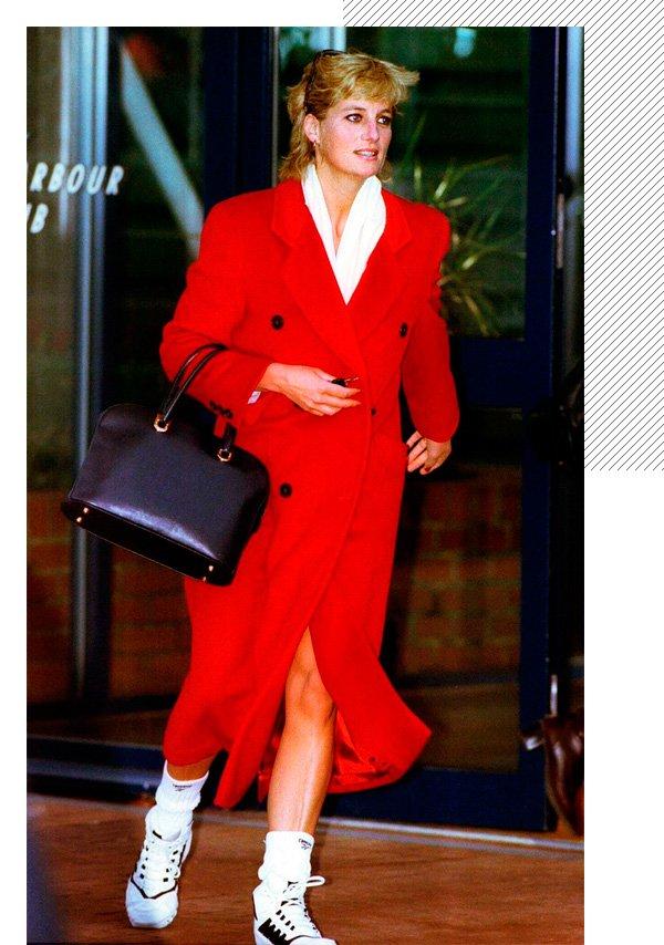 Lady Diana - vermelho - vermelho - inverno - street-style
