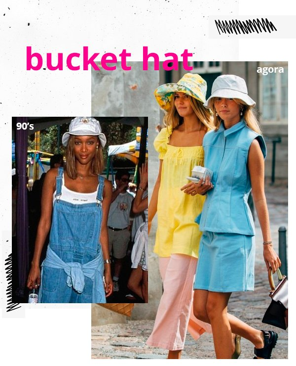 it-girl - bucket hat - anos 90 - inverno - street-style