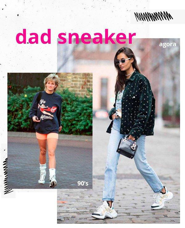 Princesa Diana, Gizele Oliveira - dad-sneakers - tênis - inverno - street-style