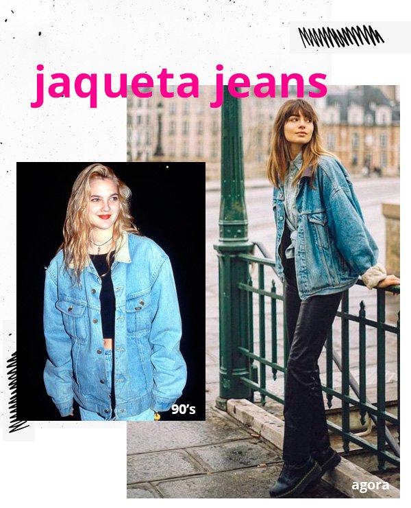 Drew Berrymore, Mara Lafontan - jaqueta-jeans - jeans - inverno - street-style