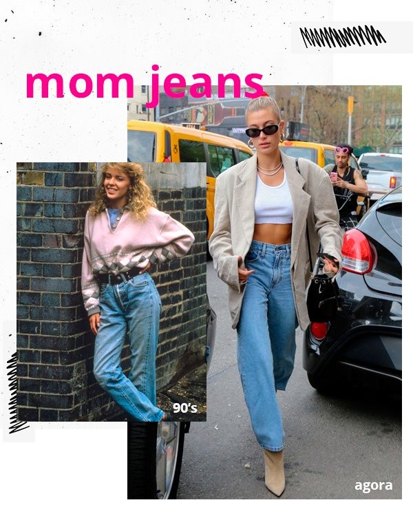 Kylie Minogue, Hailey Bieber - mom-jeans - jeans - inverno - street-style