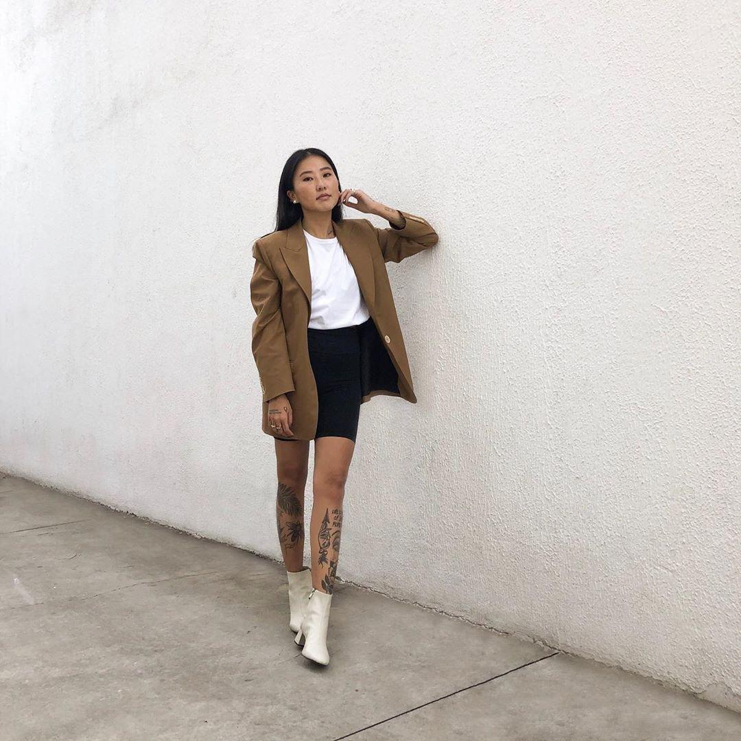 It girl - Blazer - Tons terrosos - Inverno - Street Style
