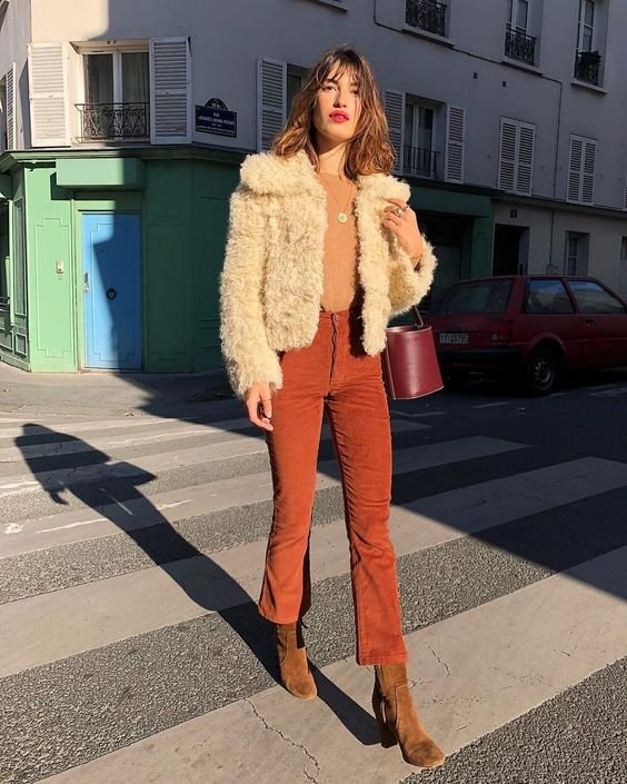 It girl - Casaco de pelo - Tons terrosos - Inverno - Street Style