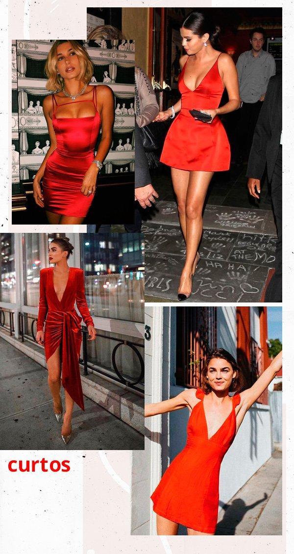 Camila Coelho, Selena Gomez, Hailey Baldwin, Bambi Northwood - vestido-vermelho - vermelho - verão - street-style