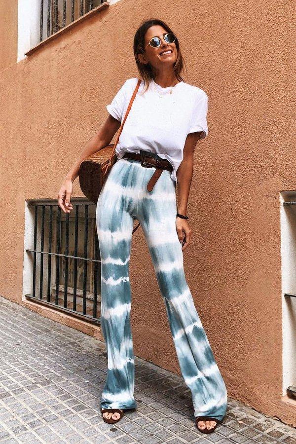 María Valdés - calça tie dye - tie dye - verão - street style