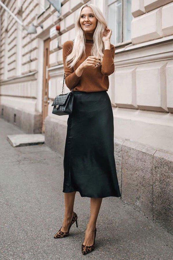 Metti Forssell - saia midi e scarpin animal print - sapatos office look - inverno - street style