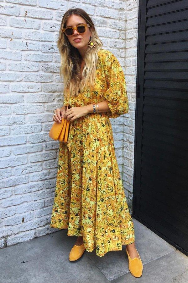 Nathalia Medeiros - vestido floral  - vestidos - meia estação - street style