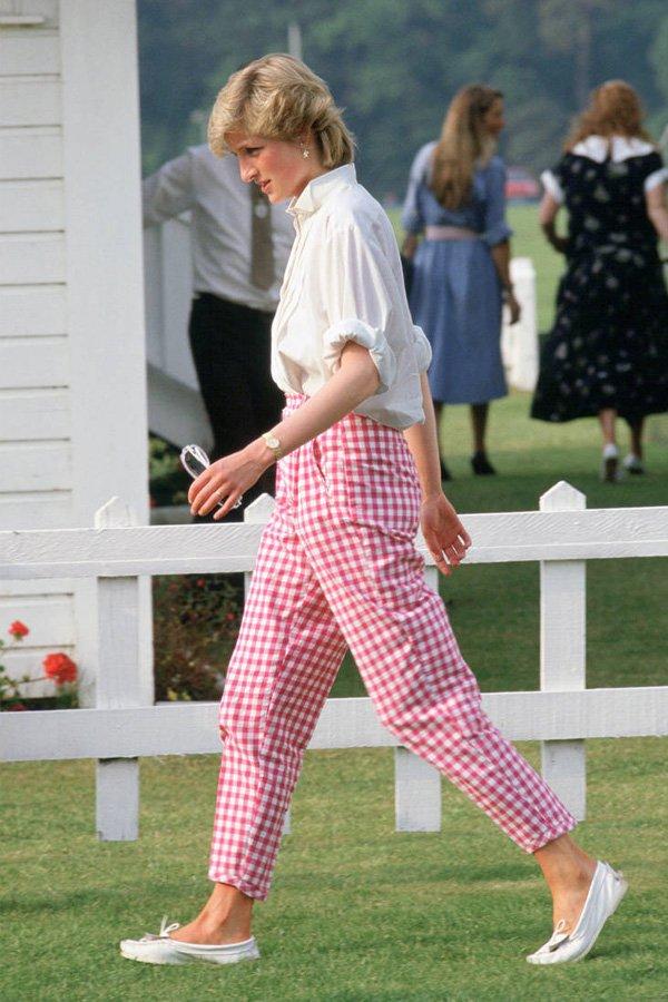 Lady Diana - calça vichy - calça - inverno - street style