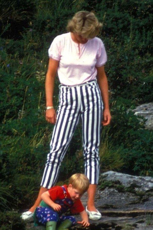 Lady Diana - calça listrada - calça listrada - inverno - street style
