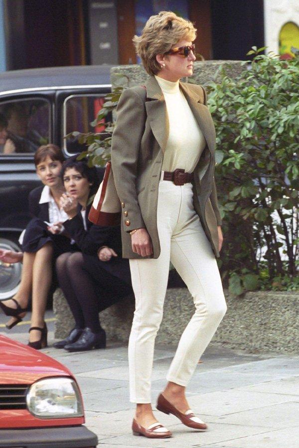Lady Diana - calça branca - calça - inverno - street style