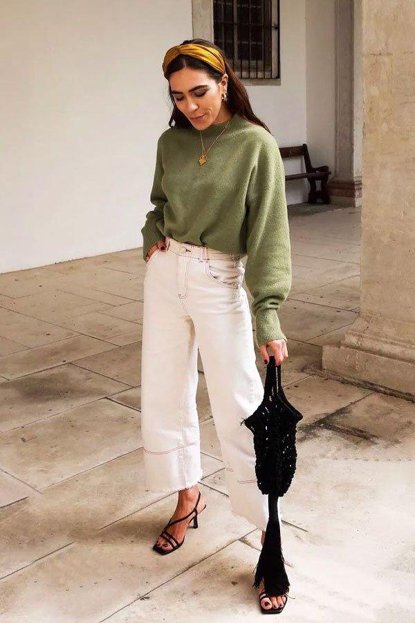 reprodução pinterest - calça jeans e sandália - sandália aberta - verão - street style