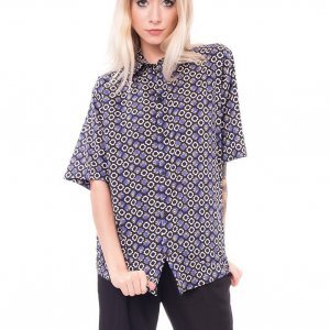 Camisa Oversized Blue Liberty London - Pp Azul