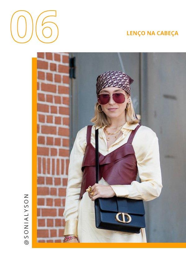 Sonia Lyson -      - lenço na cabeça - verão - copenhagen fashion week