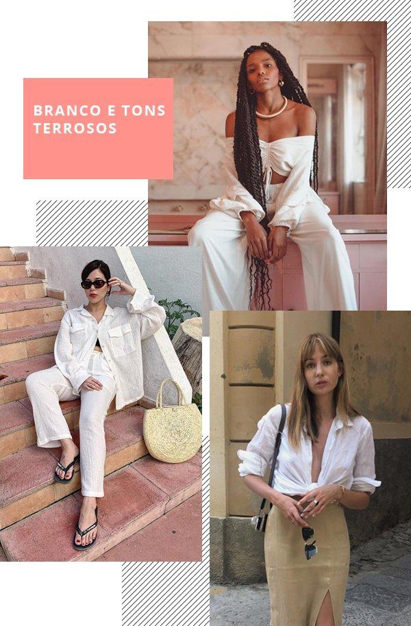 It girls - Branco - Branco e Tons terrosos - Verão - Street Style